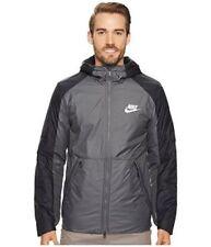 Nike Synthetic Fill Fleece Jacket Dark Grey Black White 861788-021 Size XL