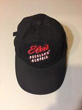 Elvis Presley Memphis Black Strapback Baseball Hat Cap  Beale Collector  *New