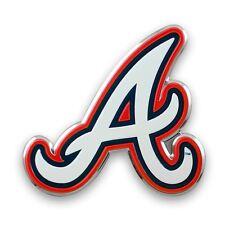 Atlanta Braves Auto Emblem MLB Car Accessories Team ProMark Chrome