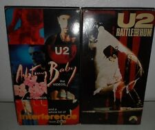 Lot 2 U2 Rattle and Hum Actung Baby Videos VHS Tape