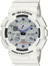 BRAND NEW CASIO G-SHOCK GA100A-7A ANA-DIGI WHITE MENS WATCH NWT!!!