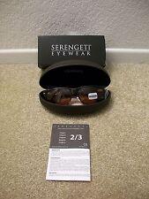 New Serengeti Fontana 7408 Dark Tortoise Sunglasses Photochromic Lens MSRP $150