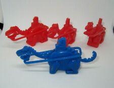 4 Post Fruity Pebbles Fred Flintstone Quarry digger cereal premium toys MINT