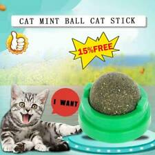 Cat Snack Catnip Ball Lick Solid Nutrition Ball Help Digestion w/ Wall Mount