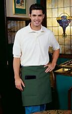 1 New Green Chef Server Waiter Waitress Half Bistro Apron 2 Pocket 19 L x 28 W