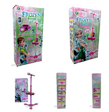 More details for frozen fever adjustable karaoke stand microphone music toy set light music toy