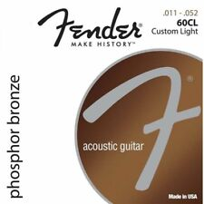 Fender 60CL .011 - .052 Phosphor Bronze Custom Light Acoustic Guitar Strings