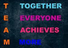 TEAM di ispirazione / motivazionali preventivo POSTER Print Picture