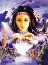 Matted Native American Themed Sacred Water Art Print~8x10 Animals