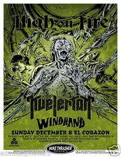 HIGH ON FIRE /KVELERTAK /WINDHAND 2013 SEATTLE CONCERT TOUR POSTER - Metal Music