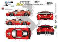 "[FFSMC Productions] Decals 1/24 Ferrari F-458GT ""Risi"" 12 Hours of Sebring 2013"