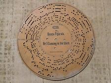 Disco di cartone per Organetto a Manovella DANZA FIGURATA DANCING IN THE BARN