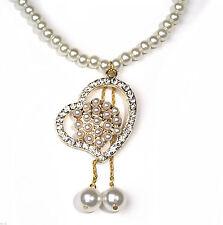 Markenlose Modeschmuck-Halsketten & -Anhänger mit Perle für Damen
