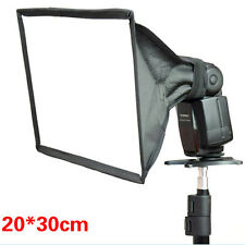 20 x 30cm Foldable Flash Diffuser Softbox Soft Box For Digital SLR Camera FREE