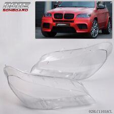 2 * Lens Lamp Cover Headlight Headlampshade Bright For BMW X5 E70 2007-2012