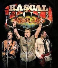 """Rascal Flatts """"Vegas Riot"""" Hard Rock Staff T-Shirt Ladies S small Black S/S las"""