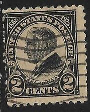 5v0132 Scott 610 US Stamp 1923 2c W. G. Harding Used