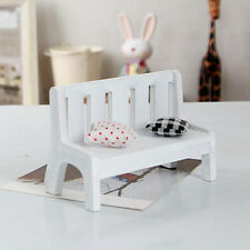 Miniature Dollhouse furniture accessories Wooden Garden Chair Outdoor Park Bench