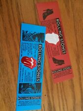 THE ROLLING STONES UNUSED TICKETS 1981 CANDLESTICK PARK