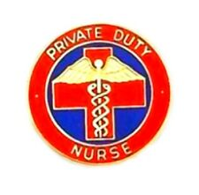 Professional Cloisonne Medical Insignia 5025 Private Duty Nurse Lapel Pin Gold