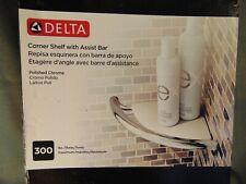 Delta Corner Shower Shelf assist bar polished chrome white plastic instructions