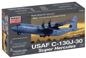 Minicraft USAF C-130J-30 Super Hercules 1/144 Plastic Model Plane Kit 14700