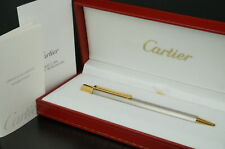 Cartier Must Steel color Gold Ballpoint pen w/Box C58
