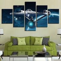 Star Trek Enterprise Ship 5 panel canvas Wall Art Home Decor Poster Print
