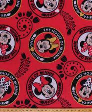 Fleece Minnie Mouse House of Minnie Disney Character Fleece Fabric Print A347.10