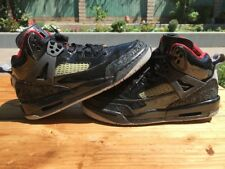 Nike Air Jordan Spizike Patent Leather Black Varsity Red White Size 15.5Y