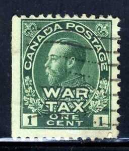 1915 Admiral🎖️ War Tax Stamp 1¢ Cent Green Scott MR1
