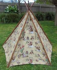 teepee tent Cowboys design canvas material -May suit indoor or outdoor use