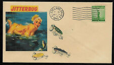 1940s Vintage Fishing Lures & Sexy Lady Featured on Collector's Envelope *OP615