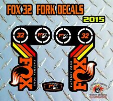 Fox 32 2015 FORK Adesivi Decalcomanie Grafiche mountain bike Down Hill MTB