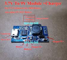 USB 18650 Lithium Li-ion Battery Booster Charger Module 3.7V 4.2V Step up to 9V