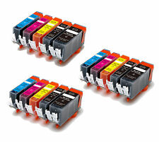 15 PK New Ink Combo + smart chip for Canon 220 221 Pixma MP620 MP640 MX860 MX870