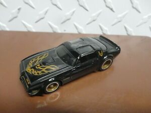 Loose Hot Wheels Black '77 Pontiac Firebird T/A w/Real Riders