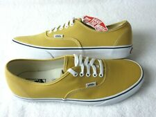 Vans Authentic Mens Ochre Yellow True White canvas Skate shoes Size 12 NWT
