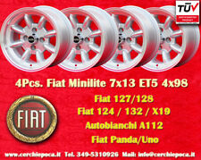 4 Cerchi Fiat Minilite 7x13 ET5 4x98 Wheels Felgen Lancia Beta Alfa Llanta Jante