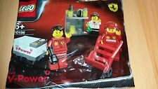 Brand New Rare Shell V-Power Lego Racers Ferrari Pit Crew In Polybag 30196