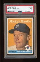 1958 Topps Set Break #150 Mickey Mantle PSA 7 NM