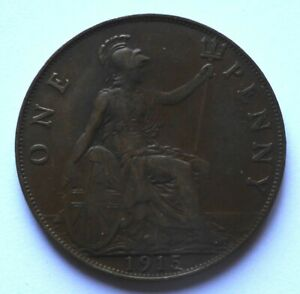 Great Britain – 1 Penny 1915 VF+ King George V