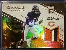 MIKE SINGLETARY 2016 ELITE THROWBACK THREADS PRIME 3 COLOR PATCH /49 BEARS