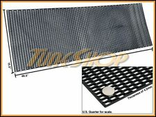 """PLASTIC ABS UNIVERSAL BLACK SPORT MESH GRILL GRILLE CAR STOCK OE STYLE 15""""X46"""" C"""