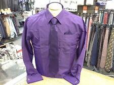 Men's GIANNI ROTTI French Cuff  Dress Shirt w/ Tie, Puff and Cufflinks
