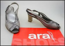 ARA WOMEN'S HEELED SLINGBACK OPEN-TOE FASHION SHOES SIZE 5 H