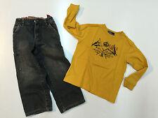 Toddler Boy Fall Winter Outfit Gap Denim Pants & Polo RL T-shirt Size 3