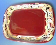 Latvian Studio Art Pottery Keramika Serving Butter Dish Dinnerware Kitchen Decor