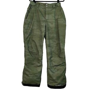Columbia Omnitech Men/Woman's ski snowboard pants green insulated Size M