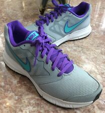 Nike DownShifter 6 Womens Gray/Jade/Purple Running Shoes Sz 8.5, 684765-001 EUC